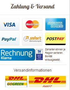 Allyouneed.com Bezahlung und Versand
