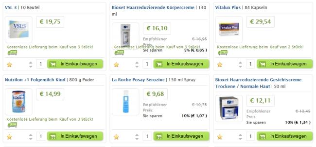 farmaline Produkte