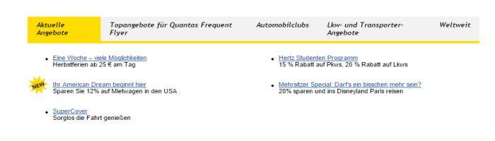Hertz Angebote