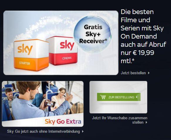 Sky Angebote
