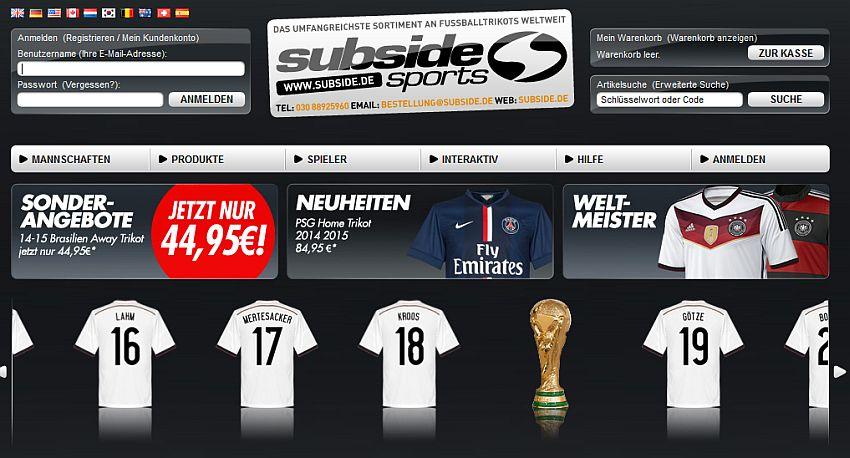 SubsideSports Gutschein