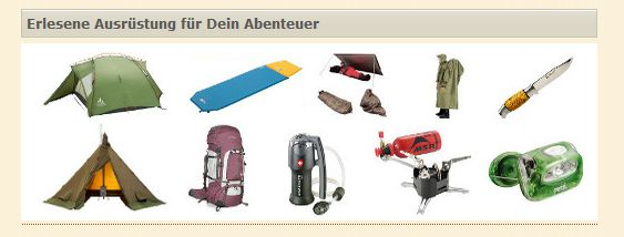 Wildnissport Angebot